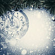 Abstract Xmas Backgrounds With Old Watches And Christmas Decorations stock illustration