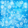 Abstract Xmas Backgrounds With Snowflakes And Beauty Bokeh