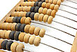 Accounting Abacus For Financial Calculations Lies stock photography