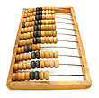 Accounting Abacus For Financial Calculations Lies stock image