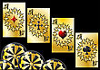 Aces And Chips. Gambling Games Abstract Background