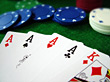 Aces Four Of A Kind - Poker stock image