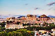 Greece Acropolis In Athens, Greece In The Evening Before Sunset stock photo
