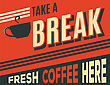 Advertising Coffee Retro Poster, Vector Format