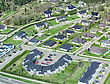 Aerial View Of City Suburbs stock photography