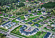 Landscape Aerial View Of City Suburbs stock photo