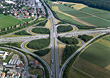 Aerial View of Highway, Zuffenhausen, Baden-Wuerttemberg stock photo