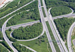 Aerial View Of Traffic - Road System stock photo
