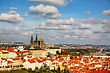 Aerial View Of Prague On A Sunny Day As Seen From Petrin Hill stock photo