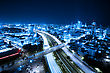 Aerial View Of Tel Aviv At Night - Tel Aviv Cityscape stock photography