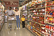 African-American Family Food Shopping stock image