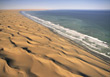 Deserts African Coast stock photo