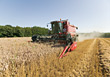 Agriculture - Combine Harvesting Grains stock photo