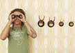 symbol binoculars hunting symbolic trophies focusing stock photography