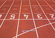 starting tracks running lane stock photography