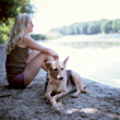 dogs adult relaxing people women break stock photography