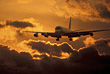 Aviation Airplane Landing stock image