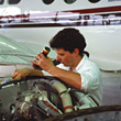 Aviation Airplane Mechanic stock image