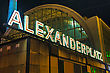Alexanderplatz Square At Night In Berlin, Germany stock photography