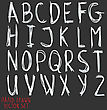 Alphabet Letters. Hand Drawn Illustration By Inc. Vector