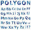 Alphabet. Polygonal Font Set. Geometrical Style. Vector Illustration
