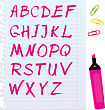 Alphabet Set - Letters Are Made By Marker