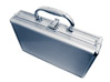 Secret Aluminum Security Briefcase stock photo