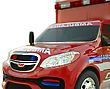 Ambulance: Closeup View Of Emergency Services Vehicle On White. Custom Made And Rendered stock image