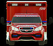 Ambulance: Front View Of Emergency Services Vehicle Over White stock illustration