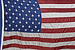 American Flag With Rippled Nylon Texture stock photography