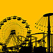 Amusement Park Background With Room For Text