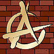 Anarchy Sign On A Brick Wall