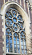 Ancient Church Window. Lviv stock photography