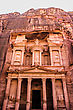 Ancient City Of Petra Built In Jordan At Day stock photography