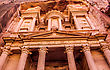 Ancient City Of Petra Built In Jordan At Day stock image