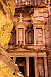 Awe Ancient City Of Petra Built In Jordan At Day stock photo