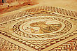 Ancient Mosaic In Kourion, Cyprus. stock image