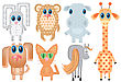Animals.Vector Cartoons Illustrations On White For Design stock vector