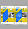 Annual Report Leaflet Brochure Flyer Template A4 Size Design, Book Cover Layout Design, Abstract Presentation Templates On Grey Background
