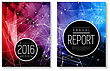 Annual Report Template. Brochure, Flyer Design, Book Cover Or Presentation. Vector Illustration