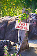 "Anti-alcohol Banner With The Warning Text ""no Alcohol"" stock photo"