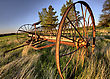 Antique Farm Equipment Sunset Saskatchewan Canada