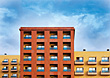 Apartment Apartment Building Facade stock image