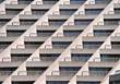 Apartment Building with Balconies stock photography