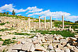 Apollo Temple And Ruins At Amathus, One Of The Most Ancient Royal Cities Of Cyprus, On The East Side Of Limassol.Its Age Is Almost 2000 Years stock image