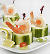 Appetizers With Shrimps,Close Up stock photography