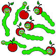 Apple And Worm Caterpillars