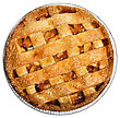 Apple Pie Isolated On White , Top View stock image