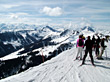 ski skiing mountains winter peak slope stock photography