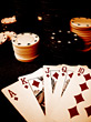 playing games flash winning poker royal stock image